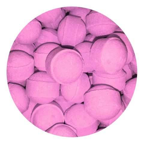 30 x Raspberry Mini Bath Marbles Fizzers Bath Bubble & Beyond 10g
